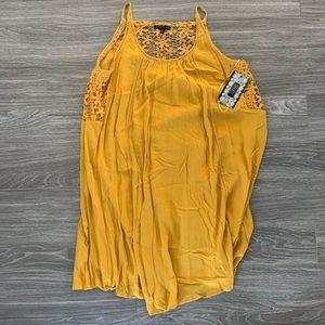 Yellow Cutout Dress